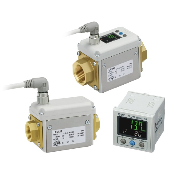 3-Color Display Digital Flow Switch LFE□