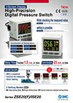 3-Screen Display High-Precision Digital Pressure Switch Series ZSE20(F)/ISE20