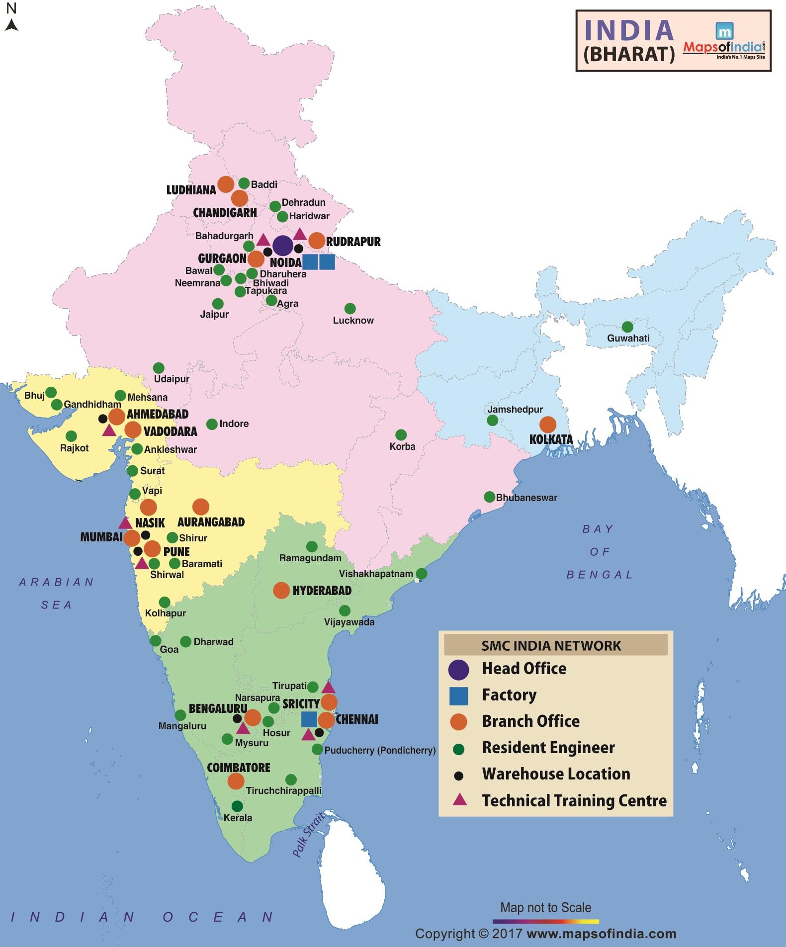 SMC's Presence in India