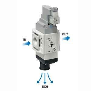 3-Port Solenoid Valve Modular Type/Residual Pressure Release