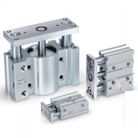 guided cylinder with lock